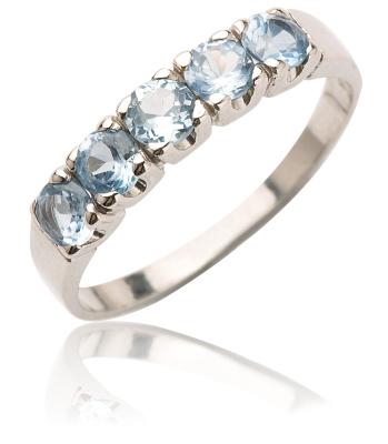 Stříbrný prsten se zirkony-VR105