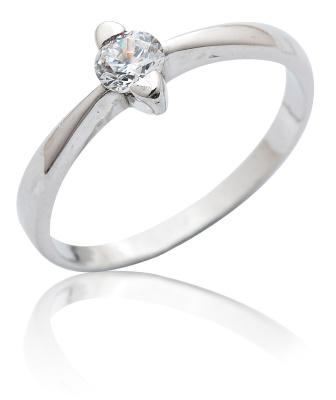 VR 113 - Oblíbený stříbrný prsten se zirkonem