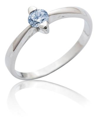 Stříbrný prsten se zirkonem-VR 113