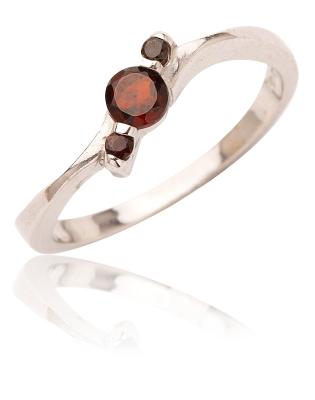 Stříbrný prsten s granáty-VR218