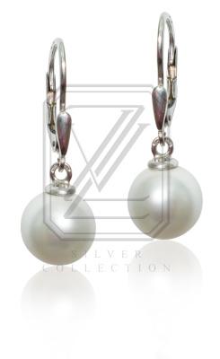 Stříbrné náušnice s perlami - VE227