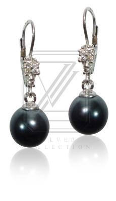 Stříbrné náušnice s perlami - VE229