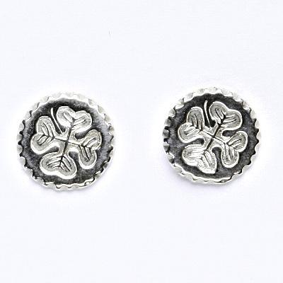 Stříbrné náušnice na šroubek, čtyřlístek, NŠ 274