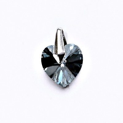 Stříbrný přívěsek s krystalem Swarovski (srdce 10 mm, Rainbow Dark, 2) P 1310