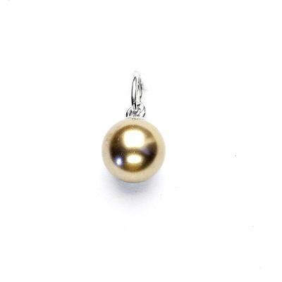 Stříbrný přívěsek, Swarovski perla bronze 8 mm, P 43