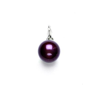 Stříbrný přívěsek, Swarovski perla fialová 8 mm, P 43