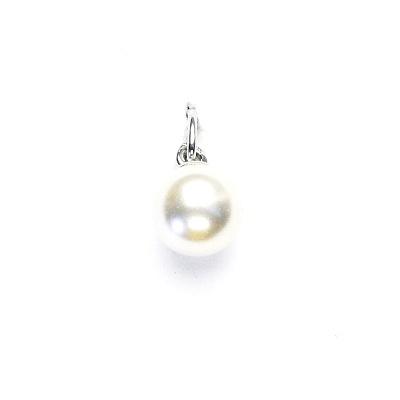 Stříbrný přívěsek, Swarovski perla white 8 mm, P 43