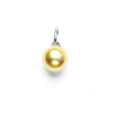 Stříbrný přívěsek, Swarovski perla gold 8 mm, P 43