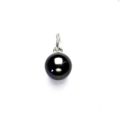 Stříbrný přívěsek, Swarovski perla dark grey 8 mm, P 43