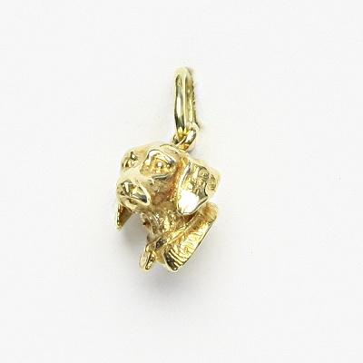 Zlatý přívěsek, žluté zlato, jezevčík, P 337