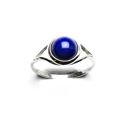 Stříbrný prsten, přírodní lapis lazuli, T 1503