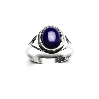 Stříbrný prsten, přírodní lapis lazuli, T 1453