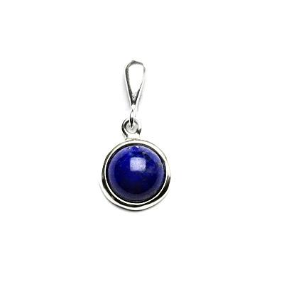Stříbrný přívěsek, přírodní lapis lazuli, P 1503