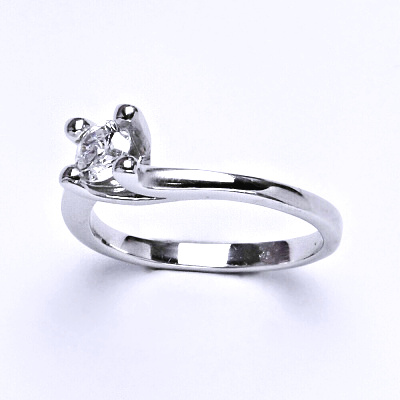 Stříbrný prsten, prsten ze stříbra, syntetický zirkon, váha 2,75 g, vel.58 a vel.54