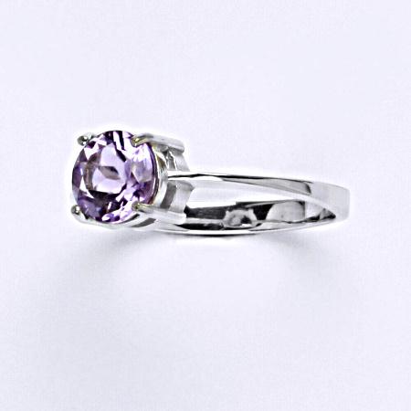 Stříbrný prsten, přírodní ametyst, prstýnek ze stříbra,T 1252