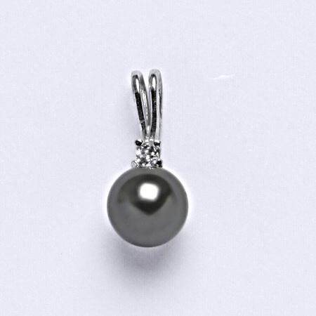Stříbrný přívěšek Swarovski perla dark gray P 1207A