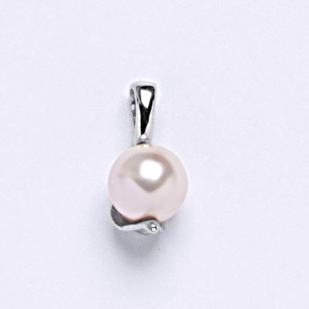 Stříbrný přívěšek Swarovski perla rosaline P 1215 8mm