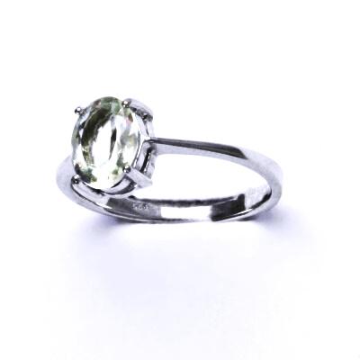 Stříbrný prsten, stříbro,přírodní green ametyst,prstýnek ze stříbra, T 1245