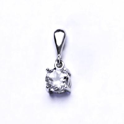 Stříbrný přívěsek, přírodní křišťál, přívěšek ze stříbra, P 1250