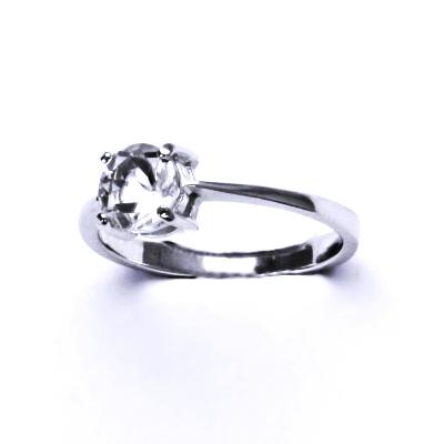 Stříbrný prsten,přírodní křišťál,prstýnek ze stříbra, T 1250