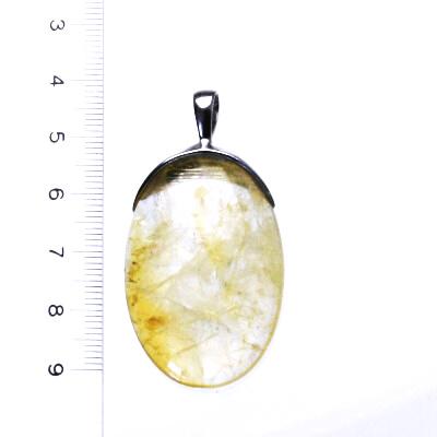 Přírodní citrín, stříbrný přívěsek s přírodním citrínem, 15,94 g