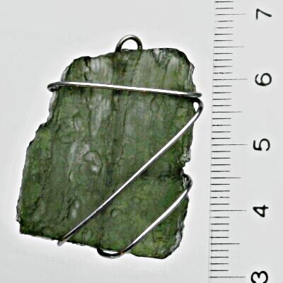 Přírodní vltavín, přívěsek stříbrný, šperk 6,80 g