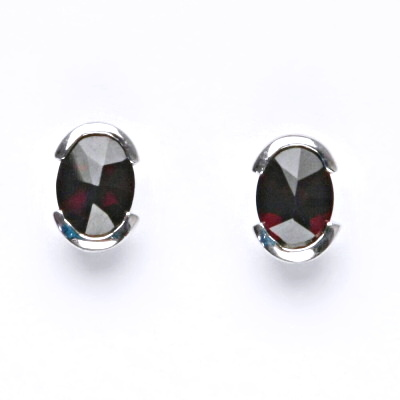 Stříbrné náušnice, přírodní granát, šperky s granáty, 3,17 g