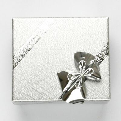 Papírová krabička na šperky, stříbrná, SG-1/Ag