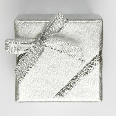 Papírová krabička na šperky, stříbrná, SGK-2/AG