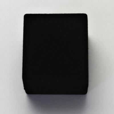 Sametová krabička na šperky, černá, RE-02/NA/A25