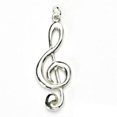 Stříbrný přívěsek, houslový klíč, přívěšek ze stříbra, P 367