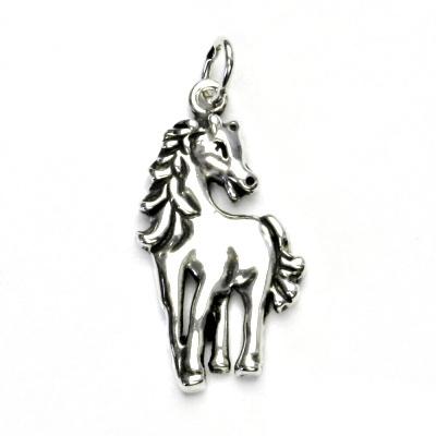 Stříbrný přívěsek s patinou, kůň, přívěšek ze stříbra, stříbro, koník, P 366