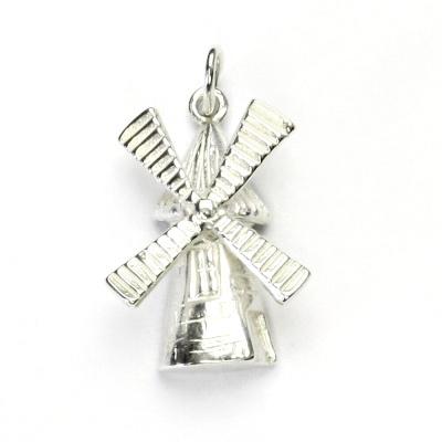 Stříbrný přívěsek, větrný mlýn, přívěšek ze stříbra, stříbro, P 360