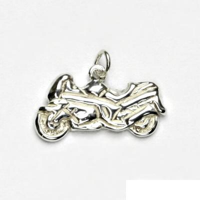 Stříbrný přívěsek, motorka, přívěšek ze stříbra, stříbro, P 227