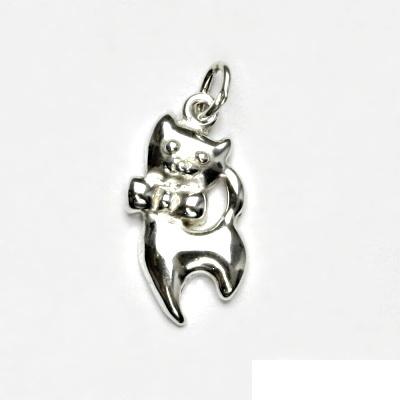 Stříbrný přívěsek, kočička, přívěšek ze stříbra, stříbro, kočka, P 396