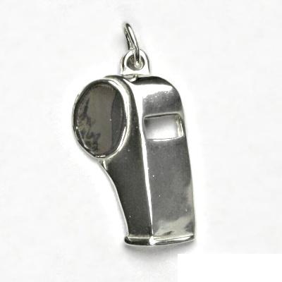 Stříbrný přívěsek, píšťalka, přívěšek ze stříbra, stříbro, P 392