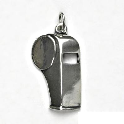 Stříbrný přívěsek s patinou, píšťalka, přívěšek ze stříbra, stříbro, P 392
