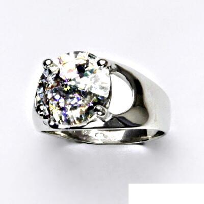 Stříbrný prsten s krystalem Swarovski (barva White Patina) T 1188
