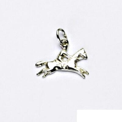 Stříbrný přívěsek, kůň, jezdec na koni, stříbro, přívěšek, P 28