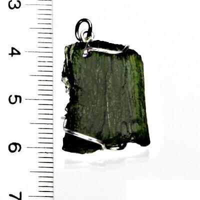 Přírodní vltavín, přívěsek ze stříbra, přívěsek s vltavínem, přívěšek, 5,17 g