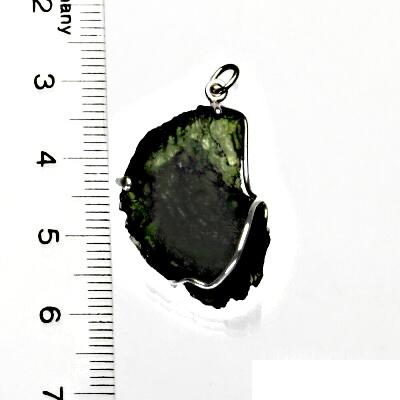 Přírodní vltavín, přívěsek ze stříbra, přívěsek s vltavínem, přívěšek, 5,69 g