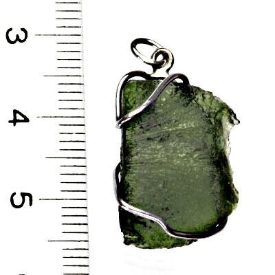 Přírodní vltavín, přívěsek ze stříbra, přívěsek s vltavínem, přívěšek, 3,62 g