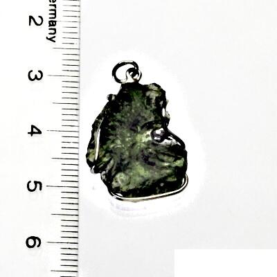 Přírodní vltavín, přívěsek ze stříbra, přívěsek s vltavínem, přívěšek, 2,37 g