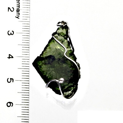 Přírodní vltavín, přívěsek ze stříbra, přívěsek s vltavínem, přívěšek, 5,04 g