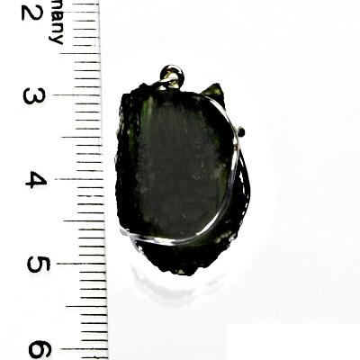 Přírodní vltavín, přívěsek ze stříbra, přívěsek s vltavínem, přívěšek, 5,39 g
