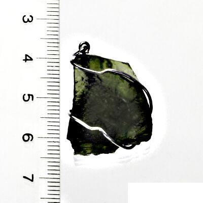 Přírodní vltavín, přívěsek ze stříbra, přívěsek s vltavínem, přívěšek, 5,51 g