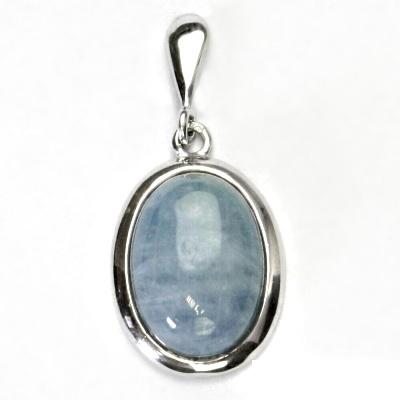 Stříbrný přívěsek, přírodní akvamarin A , stříbro, přívěšek, P 1454
