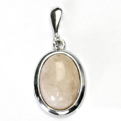 Stříbrný přívěsek, přírodní beryl - růžový, stříbro, přívěšek, P 1454