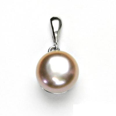 Stříbrný přívěsek, přírodní perla růžová, přívěšek ze stříbra, P 1299/22