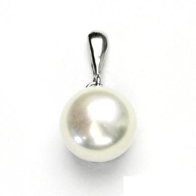 Stříbrný přívěsek, přírodní perla bílá, přívěšek ze stříbra, P 1299/22